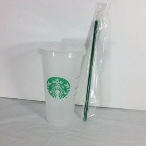 Starbucks Venti Clear Cold Cup Tumbler Reusable